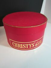 Vintage Christys London Hat Box Red And Gold