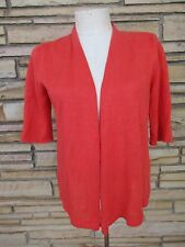 NWOT Eileen Fisher Petite cardigan Sweater Top Sz PS Coral Open Front