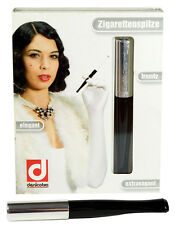 Denicotea Cigarette and Filter Holder - Black & Silver (20253)