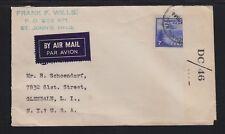 NEWFOUNDLAND 1944 CENSORED AIRMAIL COVER ST JOHN'S TO GLENDALE NEW YORK USA