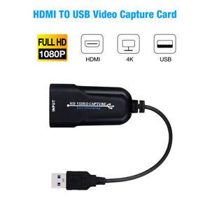 HDMI zu auf USB3.0 Videoaufnahmekarte Video Capture Card Game Live-Streaming DHL