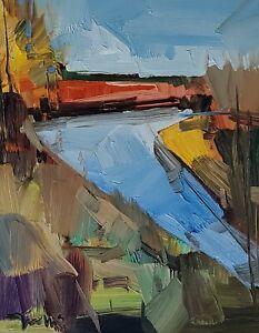 JOSE TRUJILLO Oil Painting IMPRESSIONISM EXPRESSIONISM 11X14 LANDSCAPE RIVER NR