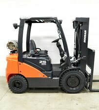 New 2019 Doosan G25N-7 5,000 Lb Forklift 4 Way Hydraulics Ssfp Daewoo