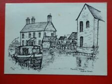 POSTCARD WARWICKSHIRE MARSTON DOLES - OXFORD CANAL - PENCIL SKETCH