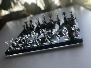 Luxury Chess Set Handmade Compact Glass Board and Glass Figures Chess Board Game