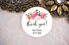 10 White Gift Tags Wedding Favour Bomboniere Thank you Personalised V7