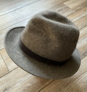 F.R. Tripler New York Hat Felt Fedora AUTH Traveler Rare Vintage Gray 7 1/4