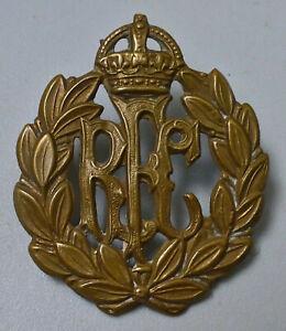 1914-18  ROYAL FLYING CORPS WW1 NICE ORIGINAL RFC BRASS AIR FORCE CAP BADGE
