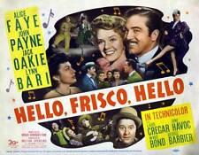 HELLO FRISCO, HELLO Movie POSTER 22x28 Half Sheet