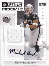 2007 Playoff NFL Playoffs Material Signatures Black #124 Michael Bush 1/5!