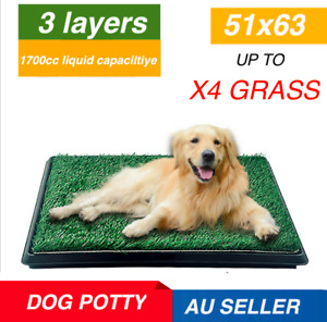 indoor dog potty toilet grass tray pads training puppy large mat 1/2/4 indoor AU
