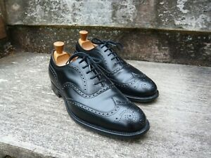 CHURCH BROGUES MEN'S SHOES – BLACK - UK 9 – CHETWYND – EXCELLENT CONDITION