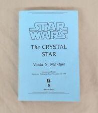 Star Wars: The Crystal Star by Vonda N. McIntyre 1994 Uncorrected Proof Bantam