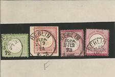 Preußen / BERLIN ST. P. A., je Grot.-K1 (KBHW 47 Type a) auf DR 2 + Briefstück 1
