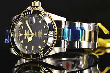Invicta 8927OB Pro Diver Automatic 18k Gold IP 2Tone Black Dial Coin Edge Watch!
