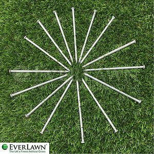 20 Artificial Grass/weed membrane Fixing Pegs - Strong Galvanised Securing pins