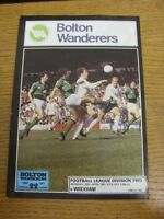 20/04/1981 Bolton Wanderers v Wrexham  . Footy Progs (aka bobfrankandelvis) are