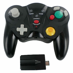 Wireless Controller for Nintendo GameCube with receiver joypad - Black | ZedLabz