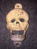 Cast Iron Skull Beer Bottle Opener Vintage Style Skeleton Patina Finish Vg NR