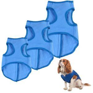 PET COOLING VEST Dog Cooler Sleeveless Jacket Water Absorbent Coat Reusable Soak