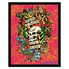 FRAMED Ed Hardy Death is Certain - Life is Not 19.5x15.5 Tattoo Art Poster