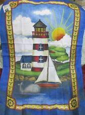 "Lighthouse Flag Images in Art Made in USA 24.5""W X 37""L Polyester"