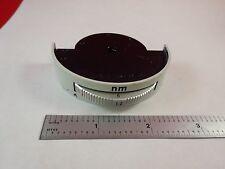 MICROSCOPE PART LEITZ GERMANY IRIS nm mm HOLE 673019 OPTICS AS IS BIN#K9-B-16