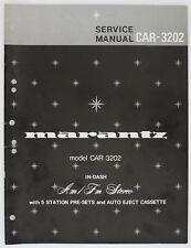 Marantz MODEL car-3202 ORIGINAL AM/FM Stéréo service-manual/Diagram o164