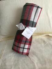Pottery Barn DENVER PLAID THROW Blanket Authentic