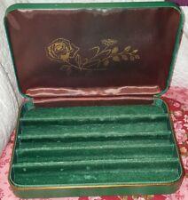 VINTAGE FARRINGTON GENUINE TEXOL JEWELRY BOX GREEN