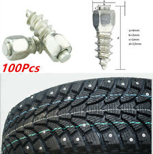 100X 12mm Screw in tire Stud Snow Spikes Wheel Tyres Snow Chains Studs for Car