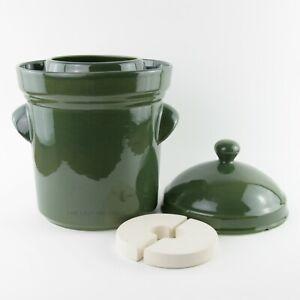 Traditional Polish 5L Ceramic Fermentation Crock / Pot for Sauerkraut & Kimchi