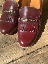 Vintage Kiltie Tassel Burgundy Etienne Aigner Loafers High Heels Sz 8.5 ��sj15m5