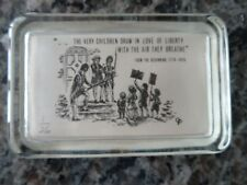 Limited Edition The Old Portage Glass Co. #1/26 Paperweight Advertising Picture