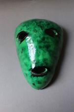 Accolay Wand Maske Lampe Mask Masque mural en céramique 50er 50es signed Vintage