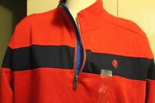 Stafford Prep Sz L Red with Blue zippered Sweatshirt  Buy Now: $19.99
