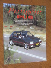 1991 Peugeot 205 GTi original dealer reprint road test 4 page brochure