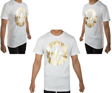 Adidas Originals Mens Trefoil Flames Gold 100% Cotton T-shirt Top Tee New