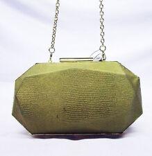 INC INTERNATIONAL CONCEPTS TAMME Gold Leather Clutch Shoulder Bag Msrp $59.50