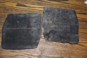 Pair OEM 1975-85 Volvo 240 242 244 245 Front Rubber Mud Flaps