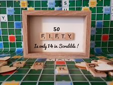 50th, Fifty, Fiftieth, Scrabble Birthday Gift, 50th Birthday Gift  Free P&P