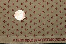 """OHIO STAR"" CIRCA 1850 COTTON QUILT FABRIC BTY FOR BLUE HILL FABRICS 7679-8"