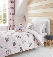 Catherine Lansfield Wald Freunde Pflegeleicht Doppelbettwäsche Set Pink