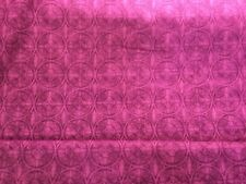 Quilting sewing material 2 fat quarters purple circles South Sea Imports D2