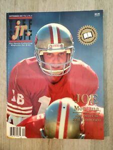 Tuff Stuff jr. Magazine 1991 September Joe Montana