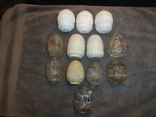 Lot of 12 Vintage Glass Bird Cage Feeders / Water Dishes