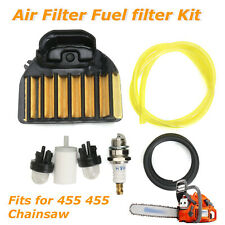 Air Filter Fuel Filter Spark Plug for Husqvarna 455 Rancher 455E 460 Chainsaw