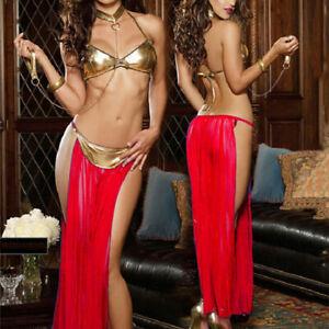 Lady's Patent Leather Underwear Sexy Lingerie Dress G-Strings Cosplay Sleepwear