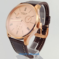 42mm Parnis data Rose Gold Case Power Reserve Seagull 1780 Orologio Automatico 2574