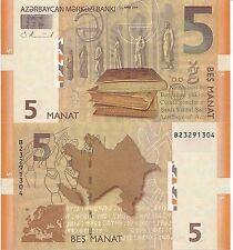 AZERBAIJAN 5 Manat Banknote World Paper Money UNC Currency Pick p-32 Bill Note